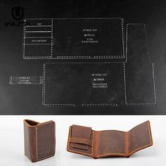 Мужской бумажник кожаный шаблон акрила оргстекла узор для Кожевенное Ремесло