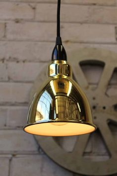 Brasserie Pendant Light in brass ideal for cafe lighting or shop fitouts Pendant Light Fitting, Brass Pendant Light, French Industrial, Industrial Style, Ceiling Rose, Ceiling Lights, Kitchen Island Bench, Thing 1, Wooden Blocks