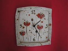 Hodiny - makové hodiny - 1147844 Pottery Gifts, Handmade Pottery, Pottery Art, Clock Decor, Wall Clocks, Hand Built Pottery, Pottery Classes, Cat Wall, Polymer Clay Art
