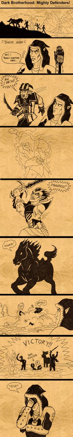 Dark Brotherhood Mighty Defenders by *SlayerSyrena on deviantART - Amazingly funny if you've played!!!