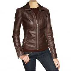 Arrow Womens brown leather jacket – kjkjt