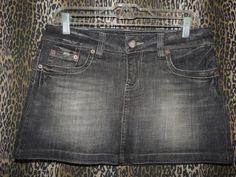 American Eagle Outfitters Women's Whiskers Denim Black Jeans Skirt Size 8 NWT…