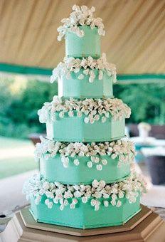 Tiffany Blue Wedding Cake Tiffany Blue Wedding Bliss Pinterest