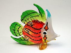 Aquarium Handcrafted MINIATURE HAND BLOWN GLASS Fish FIGURINE Collection # 111RD