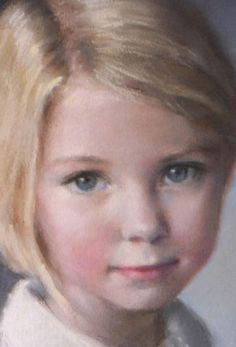 Portrait of blond girl with rosy complexion [official title unknown] by Christy Talbott