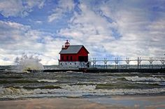 Grand Haven Lighthouse, Lighthouse, Michigan Lighthouse