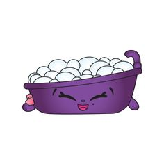 Bertha Bath is a Shopkin that was introduced in May of 2016 as part of Season 5 Shopkins. This Shopkin was released with a Classic Finish and is part of the Homewares Shopkins Team Shopkins Season 5, Shopkins Characters, Cartoon Drawings, Bath, Seasons, Purple, Classic, Toys, Bags