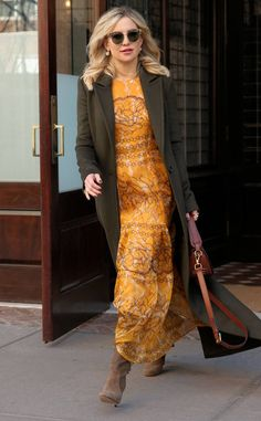 Kate Hudson from The Big Picture: Today's Hot Photos  The actress looks boho chic in her Karen Walker sunglasses while leaving her hotel in New York.
