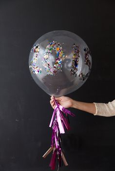 New Years Eve Confetti Balloons from @dimprovised with #marthastewartcrafts #12monthsofmartha