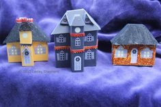Free Printables To Make Model and Dollhouse Miniatures: Printable Miniature Buildings