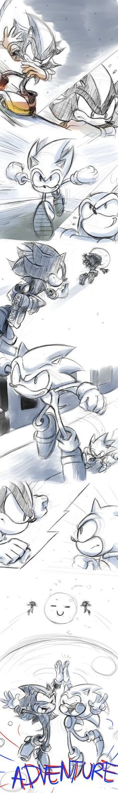 Sonic Adventure<<I envy people that can draw so professionally and then derp them in any way possible