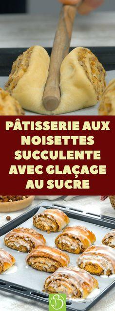 Un délice aux noisettes pour tous les gourmands ! Une garniture croustillante et un glaçage fait maison. Encore meilleur que chez le pâtissier ! #dessert #pâtisserie #noisettes