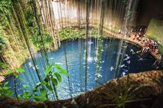 Ik-Kil Cenote, Mexico:    A cenote is a natural sinkhole that fills up with water - many people in past civilizations would use it as a natural well for water. Ik-Kil is one of the more famous cenotes in Mexico and is well worth a visit.     © Gap di gitto antonino/Getty Images