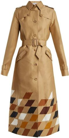 GABRIELA HEARST Rosalie geometric-print cotton trench    Creative + beautiful trench coat #trenchcoat #ad #springtrenchcoat #coat #outerwear #womenswear #womenscoats #wintercoat #2018outfitideas #fashion #highfashion