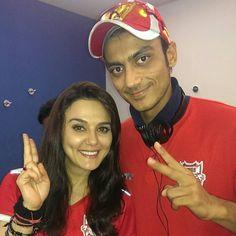 Akshar Patel With Preity Zinta