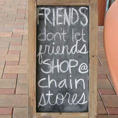 Weekend thoughts. #shopsmall #shoplocal