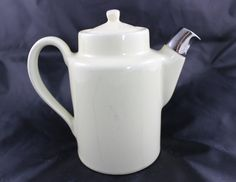 Vintage Hall China Restaurant Ware White Teapot by GRCTreasures on Etsy