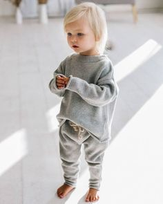Rainbow speckle jumper & pants in grey. Still available in size 3 years. Full restock coming soon! Little Fashion, Baby Boy Fashion, Fashion Kids, Toddler Fashion, Winter Fashion, Guy Fashion, Baby Outfits, Jumper Pants, Moda Kids