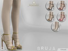 New sexy shoes for your sim! Come in 6 colours! Found in TSR Category 'Sims 4 Shoes Female'