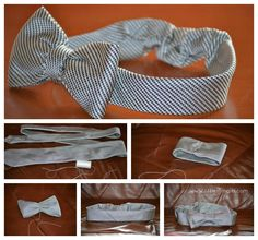 Neck Tie Recycling Ideas: DIY: Baby Headband From A Necktie. She could wear a touch of her daddy!