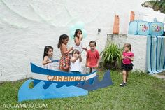 fishing birthday party decorations | supplies used in this Gone Fishing Party available in Kara's Party ...