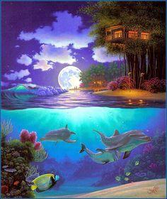 Гавайский художник John Al Hogue (Джон Ол Хогью),