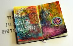 Art journaling tips for beginners. How to get started and keep going. Fun photos with art journal that speaks!