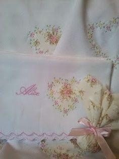 Margareth Siena Bordados: Manta bordada em piquet