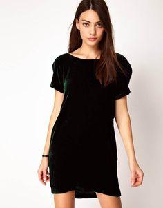 черное бархатное платье короткое - Поиск в Google
