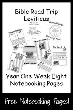 {Free Printable Notebook Pages} Bible Road Trip ~ Year One Week Eight