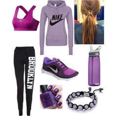 """""""Exercise Outfit"""" by kallicutie on Polyvore"""