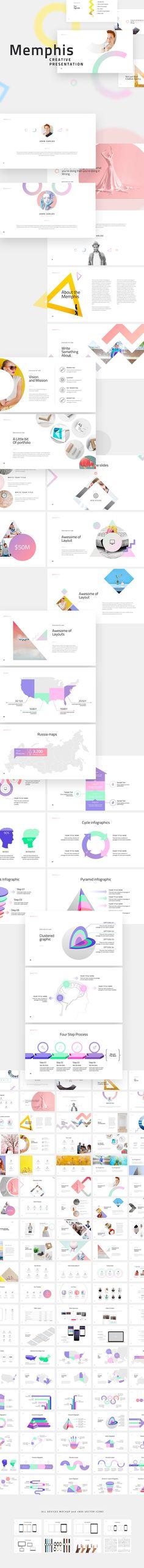 Memphis Powerpoint Template by Dublin_Design on @creativemarket