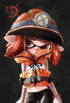 Splatoon Inkling Girl Salmon Run by えだまめ (@edamamen2)   Twitter