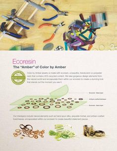 The Beauty of Ecoresin. Imagine taking something that was going to be thrown away and using it to make something beautiful instead. That is exactly what Color by Amber does! Our jewelry has 40% recycled content, so you'll feel 100% good about wearing it. It's such a fun, easy way to help nurture the planet and look great at the same time. And that's just one of many great things at CBA! Learn more about Sustainable Jewelry here: http://heatheryoung.mycolorbyamber.com/amber/feelGood#