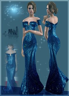 The Sims 2 Finds: Sims York City: 39- Taylor Swift Blue Dress - Change to Sims 4??