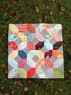 Love the blocks.....Each square with two opposite corners stitch and flip.  Four…