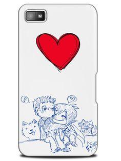 Cute Art Couple Love Heart Happy Case Cover Design for Blackberry