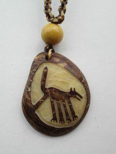 1 Anhänger Halskette aus Peru Nasca Nascalinien Hippie Goa Schmuck Nr. 3 Samen