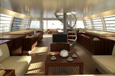 "The interior of my ""someday"" catamaran sailing yacht."