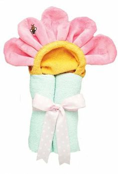 """AM PM Kids Pastel Pink Flower Tubbie Towel by AM PM Kids. Save 36 Off!. $31.95. AM PM Kids Pastel Pink Flower Tubbie Towel Made from a 27"""" x 50"""" full size towel, our Tubbies fit a wide range of age groups from infants to 6+ years.Great for the bathtub, pool, and the beach and made from 100% absorbent cotton terry. Each Tubbie towel is rolled and tied with a matching bow and makes a great gift."""
