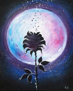 Midnight Rose by Vera Malitskaya - Paint Nite Painting