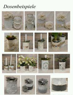 Shabby Chic selber machen -DIY vintage Vasen | Shabby Chic Style ...
