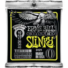 Ernie Ball Coated Slinky Electric Guitar Strings