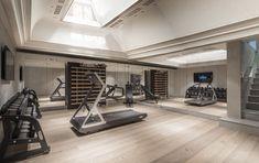 Home Gym Basement, Home Gym Garage, Diy Home Gym, Gym Room At Home, Home Gym Decor, Best Home Gym, Interior Modern, Gym Interior, Luxury Gym