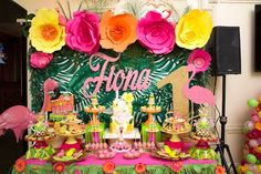 Tropical Flamingo Paradise Birthday Party on Kara's Party Ideas | KarasPartyIdeas.com (9)