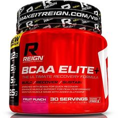 Reign BCAA Elite Fast Recovery Powder w Glutamine  Citrulline Malate  Recover Fast Fight Fatigue Build Muscle Mass  Best Bodybuilding Post  Intra Workout Amino Acids Supplement for Men  Women >>> You can get additional details at the image link.