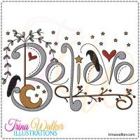 Believe 1 Machine Embroidery Design
