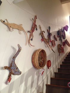 Tjanpi Desert Weavers also create wonderful creatures that can be hung on the wall!