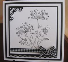 Black and White Card for School Card Club by: michele1