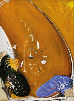 Brett Whiteley (Australian, In the Bottom Park at Lavender Bay there is a Jacaranda and a Gardenia Tree, Oil and collage on board, 104 x 76 cm. Australian Painting, Australian Artists, Art Courses, Visionary Art, Graphic Design Posters, Anime Comics, Landscape Art, Van Gogh, Art Images